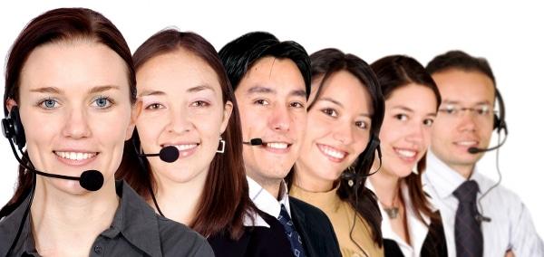 Customer Team representatives smiling